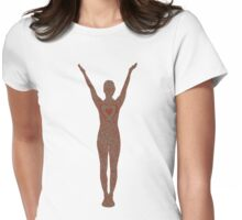 I heart yoga Womens Fitted T-Shirt
