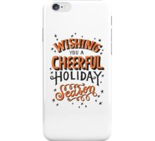 Christmas Lettering iPhone Case/Skin