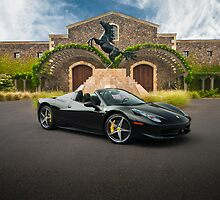 Ferrari 458 Spider | Black Stallion by Gil Folk