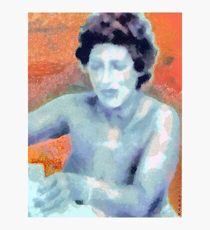 LADY BLUE Photographic Print