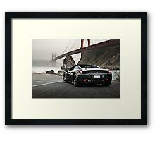 Ferrari 458 Spider | Golden Gate Framed Print