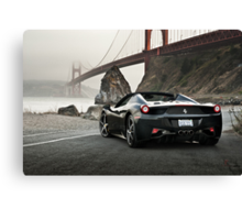 Ferrari 458 Spider | Golden Gate Canvas Print