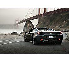 Ferrari 458 Spider | Golden Gate Photographic Print