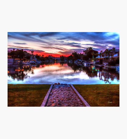 Sunset by the Lake Photographic Print