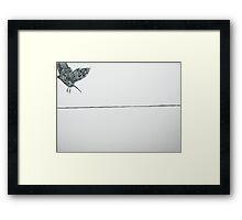 untitled leaving bird Framed Print