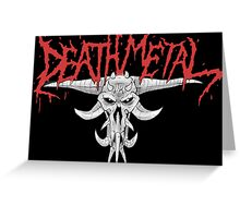 Death Metal Demonic-Skull Greeting Card