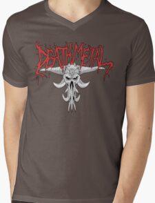 Death Metal Demonic-Skull Mens V-Neck T-Shirt