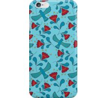 Bird and flower pattern iPhone Case/Skin