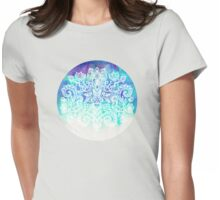 Indigo & Aqua Abstract Womens Fitted T-Shirt