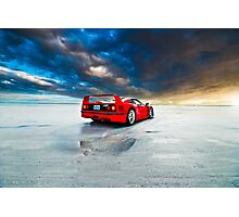 Ferrari F40   Sunrise Photographic Print