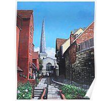 Southampton Blue Anchor Lane Poster