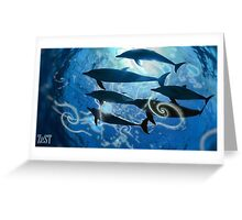 Dolphins & scrolls. Greeting Card