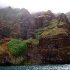 Rugged Na Pali Coast and Mountains on Kauai - Hawaii by Amy McDaniel