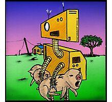Robot Pig Squeezer Photographic Print