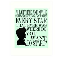Doctor Who 'Time and Space'  Art Print
