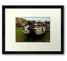 Clachtoll Beach, Boat Wreck Highlands Framed Print