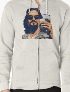 The Dude and the White Russian Zipped Hoodie