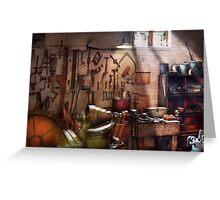 Steampunk - Machinist - The inventors workshop  Greeting Card
