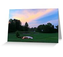 Golf Course Blues Greeting Card