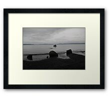 Dark Night at Beach Framed Print