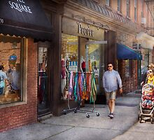 Store Front - People by Mike  Savad