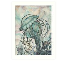 Black Lung Jellyfish Art Print