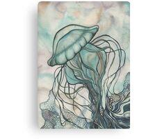 Black Lung Jellyfish Canvas Print