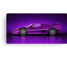 Ferrari F50 - Neon Canvas Print