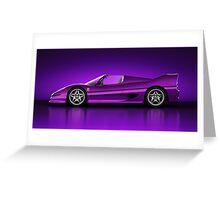 Ferrari F50 - Neon Greeting Card