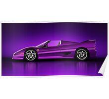 Ferrari F50 - Neon Poster