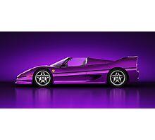 Ferrari F50 - Neon Photographic Print