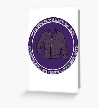 The Purple Shirt Greeting Card