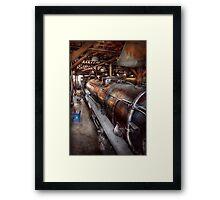 Locomotive - Routine maintenance  Framed Print