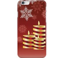 Candle and Snowflakes 4 iPhone Case/Skin