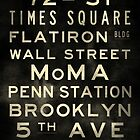 "New York ""Lexington"" V2 Distressed subway sign art by Subwaysign"