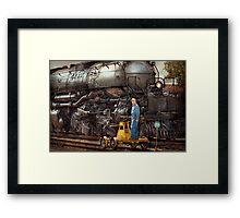 Locomotive - The gandy dancer  Framed Print