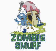 Zombie Smurf by Skree