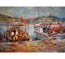 Mediterranean Touring Boats - Art Gallery 33 Photographic Print
