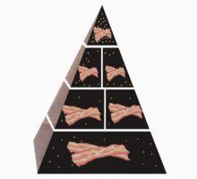 Bacon Food Pyramid Kids Clothes