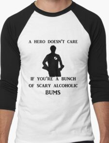 a hero doesn't care Men's Baseball ¾ T-Shirt