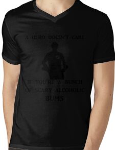 a hero doesn't care Mens V-Neck T-Shirt