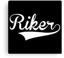 Baseball Style Riker (White) Canvas Print