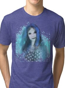 Girl in Blue Tri-blend T-Shirt