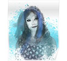 Girl in Blue Poster