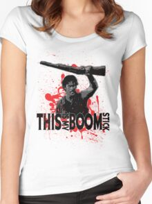 Army of Darkness, Ash, This is my Boomstick Women's Fitted Scoop T-Shirt