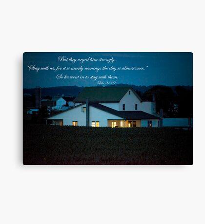 Firefly Evening Canvas Print