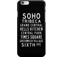 """Subway Sign Art """"SOHO"""" iPhone Case/Skin"""
