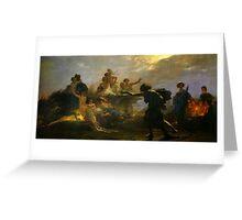 Auguste Lucas Glaize - The Purveyor of Misery 1860 Greeting Card
