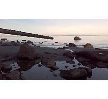 Dusk Beach Scene Photographic Print