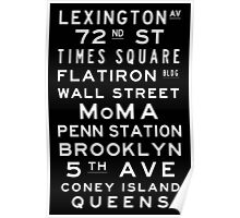 "New York ""Lexington"" Classic Style subway sign art Poster"